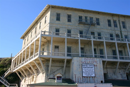 Alcatraz military barracks