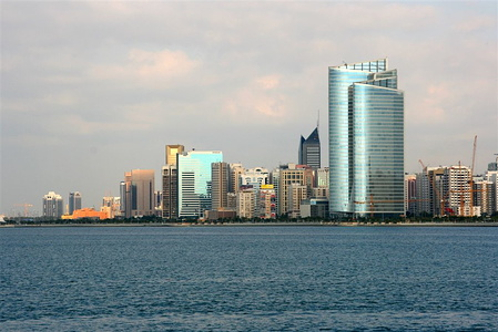 Detail of Abu Dhabi skyline