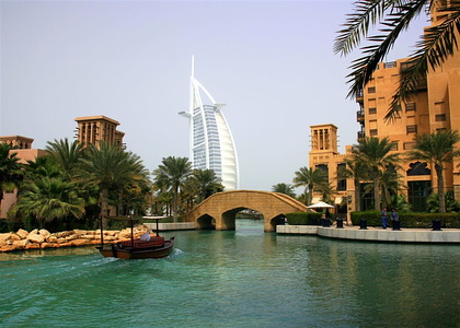 Boat ride on the canals of Madinat Jumeirah