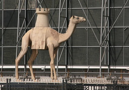 Camel in front of Dubai Municipality