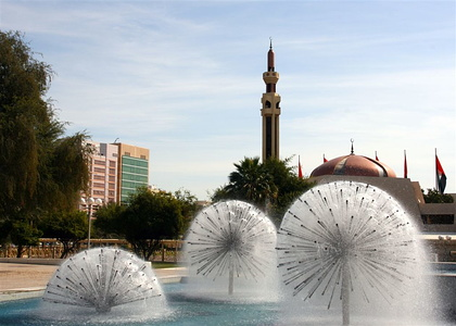 Fountain near Abu Dhabi Balladia