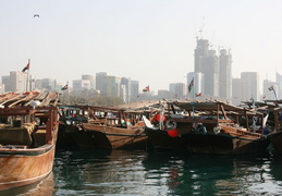 Dhow harbor in Abu Dhabi