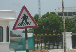 South Indian pedestrian crossing sign