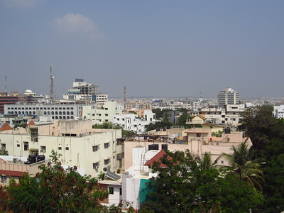 View over Hyderabad